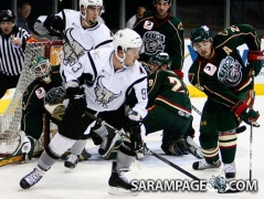 With the San Antonio Rampage of the Central Hockey League