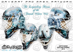 Goalie Mask Sunday: Antti Niemi's New 2013 Lid