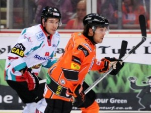 Jeff Legue. Sheffield Steelers. EIHL.