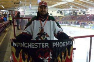 "Fan Voice: Mark Woodcock AKA ""The Angry Budgie"" and the Manchester Phoenix/Phoenix Coyotes"