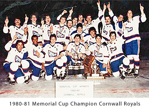 The Royals and their second straight Memorial Cup in 1981.