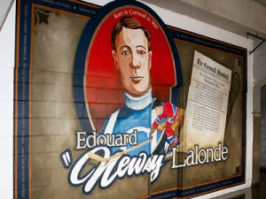 Lalonde enshrined inside the Ed Lumley arena at the Cornwall Civic Complex.