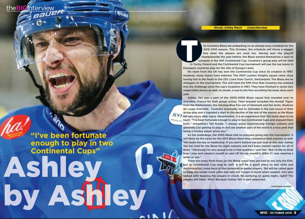 Ashley Tait and the IIHF ContinentalCup